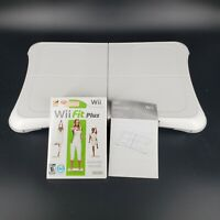 Nintendo Wii Balance Board RVL-021 with Wii Fit PLUS Game and Manual TESTED