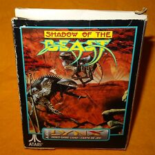 VINTAGE 1992 90 S ATARI LYNX palmare Shadow of the Beast video game card in Scatola