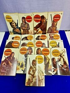 George G.Gilman- 17 EDGE Western Books. Paperback 1970's New English Library