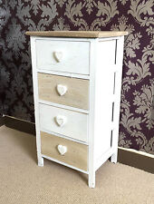 Vintage French Chic Bedside Table Nightstand Storage Unit Cabinet Bedroom