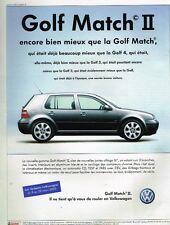 Publicité advertising 2003 VW Volkswagen Golf match II
