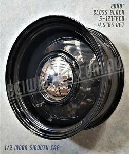"""20"""" X 8"""" 9"""" STEEL BLACK SMOOTHIES WHEELS FOR GMC CHEVY C10 TRUCK 5-127 BUICK"""