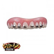 Billy-Bob Fool All Braces Acrylic Fake Teeth with Fixative Fancy Dress Adult