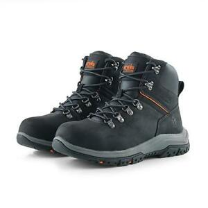NEW SCRUFFS RAFTER BLACK SAFETY BOOTS STEEL TOE CAP - UK 9 / EU 43