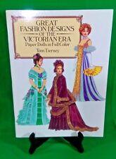 Vintage Tom Tierney Great Fashion Designs of the Victorian Era Paper Dolls UNCUT