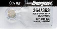 1 x Energizer 362 Watch Batteries, SR621SW or 363 Battery | Shipped from Canada