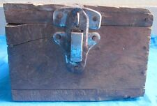 Vintage Old Collectible Hand Crafted Wooden Pan Dan Box
