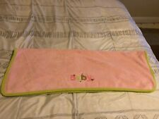 Carters Lovey Security Baby Blanket Plush Flower Pink Green