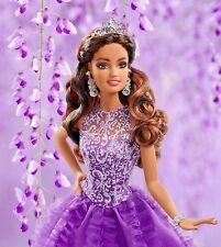 Happy Birthday Quinceanera Barbie Teresa Hispanic Doll Collector Pink Label New