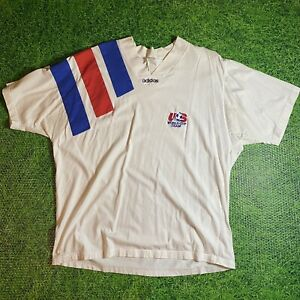 Vintage Adidas USA Soccer World Cup Team T Shirt Men's XL Embroidered