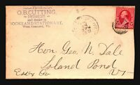 US 1881 OB Cutting Druggiest Cacheted Cover - Z15795