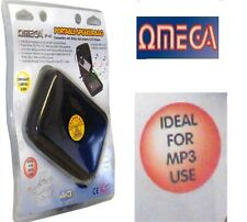 Omega SP-60 pprtable Altoparlanti Borsa per iPod Mp3 Mp4 CD DVD Player 3.5 mm JACK BLACK