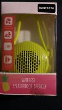 Vivitar Bluetooth wireless splashproof speaker-lime green-new in box