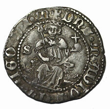 Italy Naples Alfonso I 1442-1458 AD AR Carlino Medieval Coin PR-3e