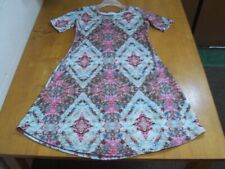 Lula Roe Floral Print Girls Trapeze Dress- Size 10 Think Back to School