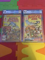 ALPHA FLIGHT #1 (Marvel Comics, 1983) CGC Graded 9.6! & Marvel Age 2 CGC 9.2