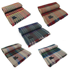 Recycled Wool Throw / Blanket / Rug Eco Friendly 120 x 150cm - Made in Britain