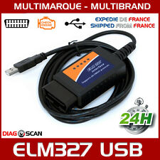 Interface diagnostic multimarque ELM327 USB V1.5 puce 25K80 chip ELM 327 OBDII