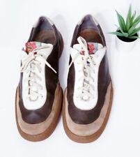 Camper Runner Men's VINTAGE Lace up Leather Shoes Brown Sneaker US 11 EU 44
