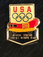 Vintage Olympic Oscar Meyer 1992 US Sponsor Metal Pinback Lapel Pin Hat Pin