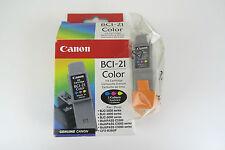 3 Inchiostro Canon BCI-21 Combo Nero/Colore Autentico Nuovo e Sigillato carrello