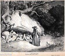 INFERNO:LIMBO:I NON BATTEZZATI.Gustave Doré.Dante Alighieri.Divina Commedia.1880