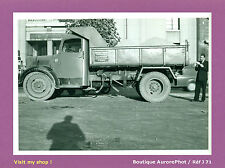 PHOTO DE POLICE CONSTAT D'ACCIDENT VERS 1955, CAMION TRAVAUX PUBLICS  -J71