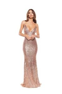 Alamour The Label ROSE GOLD Farah Ball/ Formal Gown Size XXS/ 6