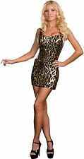 Leopard Sexy Dress Metallic Stretch Fabric Size Small New by Dreamgirl