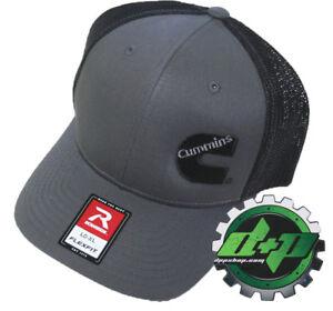 Dodge Cummins trucker hat richardson Charcoal Gray Black mesh flex fit lg/xl
