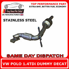 VW Polo 1.4TDi Dummy Decat Replacement Cat Exhaust Pipe, Stainless Steel