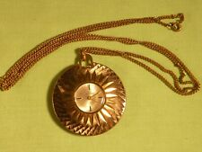 Vintage Ladies Buler Swiss Made Necklace Pendant Watch 17 Jewels