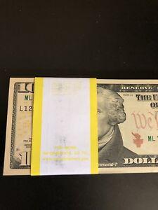 100 PCS BRAND NEW Ten(10)Dollar Bills BEP Pack 2013 Seq.Order~FULL BUNDLE($1000)