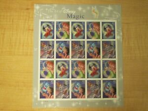 The Art of Disney Magic - 20 Stamp Sheet of 41 Cent Stamps