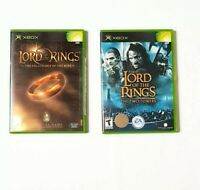 Xbox Lord of the Rings: Lot of 2 The fellowship of the ring& The 2 Towers Games