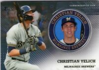 2020 TOPPS MEDALLION BASEBALL SERIES 2 CARD # TPM-CY- CHRISTIAN YELICH - BREWERS
