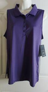NWT Women's LPGA Collection Sleeveless Polo Style Golf Shirt Blouse Top Large