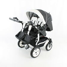 2 in 1 TWINS DUO STARS ADBOR Double TWIN Pram Pushchair;certified to BS5852