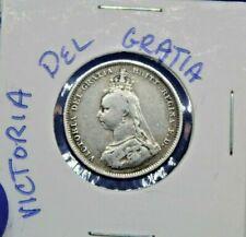1888 GREAT BRITAIN Shilling Victoria Del Gratia Pense Silver (.925) Weight5.66 g