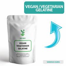 VEGAN Gelatin, Vegetarian Gelatine FOOD GRADE Premium Powder - ALL SIZES