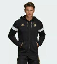 Adidas Juventus Zip Hoodie Jacket Men size  M Black Ronaldo Soccer New w/tags