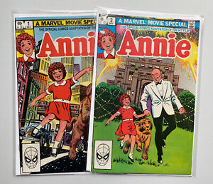Annie 🔥 #'s 1 & 2 Marvel Movie Special Complete Run! Marvel Comics 1982!