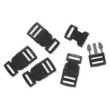 5 Black Plastic Buckle Clasps For Parachute Survival Bracelets w/15 x 2.5mm Hole
