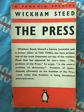Penguin Special S20 The Press by Wickham Steed 1938 Press Freedom & Democracy