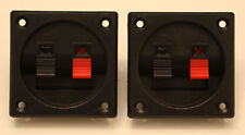 Speaker Terminals, Square Set Of Two, Very Nice Quality