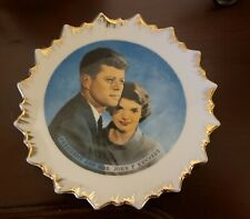 Vintage President and Mrs John F Kennedy Small porcelain  Plate 1960's   Japan