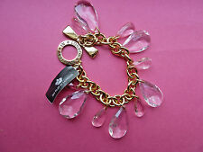 BRIGHTON BRACELET/MY FLAT IN LONDON/CHANDELIER/PINK/GOLD/RET $46/NWT