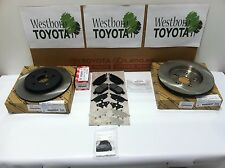 Toyota Prius 2010-2016 Genuine Oem New Rear Brake Kit Rotors, Pad Kit & Shim Kit