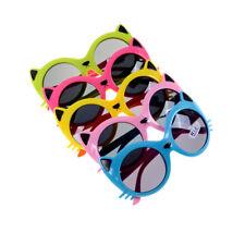 Filles garçon 5 couleurs Cartoon Cat anti UV400 lunettes de soleil enfant bébé