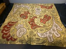 Vintage Antique Handmade Embroidered Textile Piano Dust Cover Blanket Throw